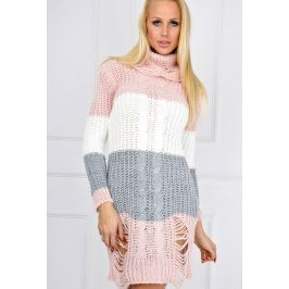 Růžová tří barevná tunika - KARD21 velikost: univerzální, odstíny barev: růžová