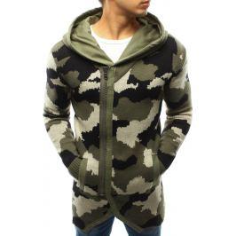BASIC Pánská vojenská khaki mikina (wx0914) velikost: S, odstíny barev: zelená