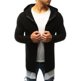BASIC Pánský černý svetr s kapucí (wx0919) Velikost: S