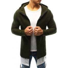 BASIC Pánský khaki svetr s kapucí (wx0920) Velikost: S