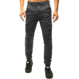 BASIC Pánské šedé kalhoty (ux1045) velikost: 31, odstíny barev: šedá