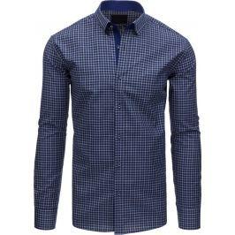 BASIC Pánská modrá košile s dlouhým rukávem (dx1401) velikost: XL, odstíny barev: modrá