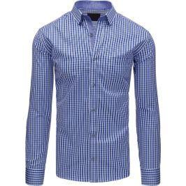 BASIC Dámská modrá košile  (dx1407) velikost: L, odstíny barev: modrá