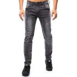 BASIC Pánské antracitové džíny (ux1059) velikost: 30, odstíny barev: šedá