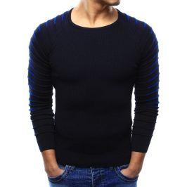 BASIC Pánský modrý svetr (wx0976) Velikost: M