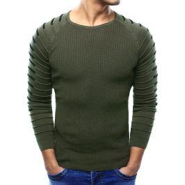 BASIC Pánský khaki svetr (wx0980) Velikost: M