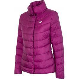 4F Růžová prošívaná dámská bunda (H4Z17-KUD009PURPLE) velikost: L, odstíny barev: růžová
