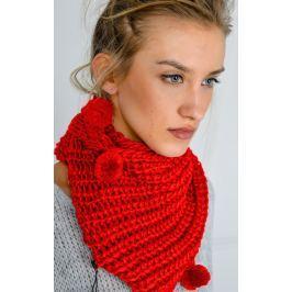 Dámská pletená šála v červené barvě (KOM14-7) velikost: univerzální, odstíny barev: červená