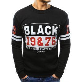 BASIC Pánská černá mikina s potiskem (bx3355) velikost: M, odstíny barev: černá