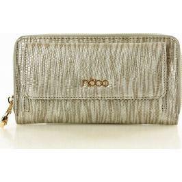 NOBO Dámská stříbrná elegantní peněženka se vzorem (Np1010a) velikost: univerzální, odstíny barev: stříbrná