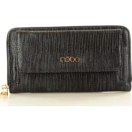 NOBO Dámská černá elegantní peněženka se vzorem (Np1010b) velikost: univerzální, odstíny barev: černá