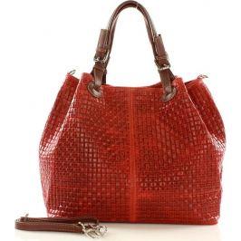 MAZZINI Červená kabelka Carina Treccia (s147e) Velikost: univerzální