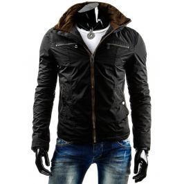 Pánská černá bunda - zimní (tx0678)/3692-C12 velikost: 3XL, odstíny barev: černá