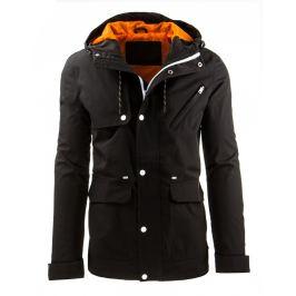 Pánská černá bunda (tx1190)/161118-D11 velikost: 2XL, odstíny barev: černá
