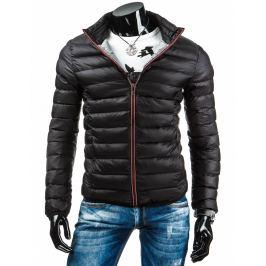 (vel. S) Pánská černá prošívaná bunda tx0890 Jstyle 3049/3874-D22 Velikost: S