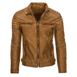 Pánská karamelová bunda (tx1605)/170451-D23 velikost: XL, odstíny barev: hnědá