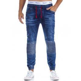 Pánské modré kalhoty joggery  (ux0305)/3619-D02 velikost: M, odstíny barev: modrá