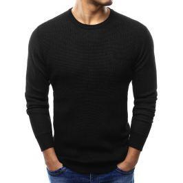 BASIC Černý pánský svetr s kapsou  (wx1000) velikost: 2XL, odstíny barev: černá