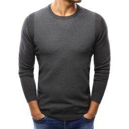 BASIC Pánský antracitový svetr (wx1001) velikost: L, odstíny barev: šedá