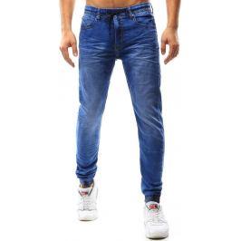 BASIC Pánské modré jogger džíny (ux1086) velikost: 28, odstíny barev: modrá