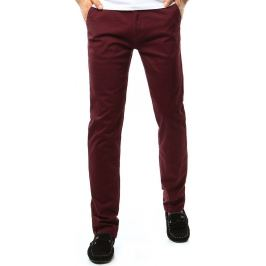 BASIC Pánské kalhoty v bordó barvě (ux1091) velikost: 29, odstíny barev: červená