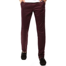 BASIC Pánské kalhoty v bordó barvě (ux1098) velikost: 30, odstíny barev: červená