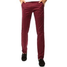BASIC Pánské kalhoty v bordó barvě (ux1100) velikost: 30, odstíny barev: červená