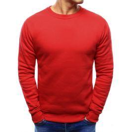 BASIC Pánská červená mikina přes hlavu (bx3397) velikost: M, odstíny barev: červená
