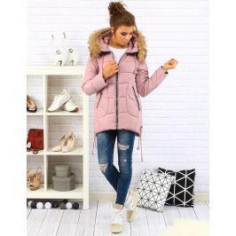 BASIC Dámská růžová prošívaná bunda s kapucí (ty0075) /C27 velikost: XL, odstíny barev: růžová