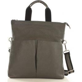 Moderní šedá kožená taška Mazzini (s148c) Velikost: univerzální