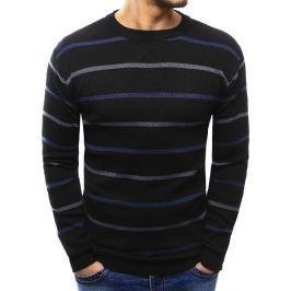 BASIC Černý pruhovaný svetr (wx1021) velikost: M, odstíny barev: černá