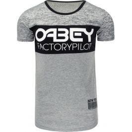BASIC Šedé tričko FACTORY (rx1757) velikost: M, odstíny barev: šedá