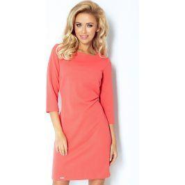NUMOCO Korálové šaty 107-1 velikost: S, odstíny barev: červená