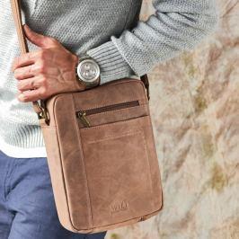 ALWAYS WILD Kožená taška (8022-TGH D.BROWN) Velikost: univerzální
