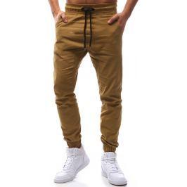 BASIC Pánské béžové stylové kalhoty (ux1135) velikost: M, odstíny barev: béžová