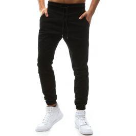 BASIC Pánské černé stylové kalhoty (ux1136) velikost: XL, odstíny barev: černá
