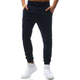 BASIC Pánské modré stylové kalhoty (ux1138) velikost: M, odstíny barev: modrá