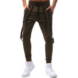 BASIC Pánské tmavě hnědé kalhoty (ux1126) velikost: S, odstíny barev: hnědá