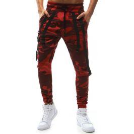 BASIC Pánské červené vojenské kalhoty (ux1129) velikost: M, odstíny barev: červená
