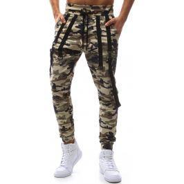 BASIC Pánské světlé vojenské kalhoty (ux1130) velikost: S, odstíny barev: hnědá