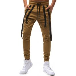 BASIC Pánské světle hnědé kalhoty (ux1132) velikost: M, odstíny barev: hnědá