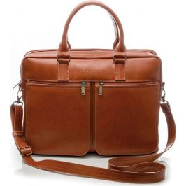 Pánská hnědá kožená taška SOLIER (SL01 VINTAGE BROWN) Velikost: univerzální