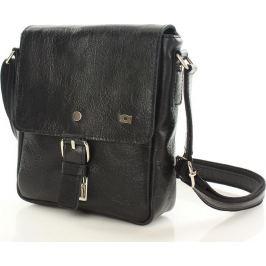 Černá kožená taška přes rameno JAZZY 57 PARTY - dg65a velikost: univerzální, odstíny barev: černá