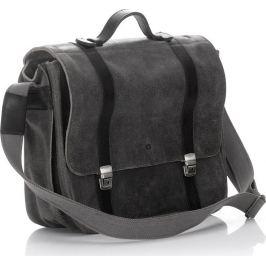 VEROSTILO Pánská kožená černá taška přes rameno (dg34b) Velikost: univerzální