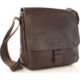 Kožená taška hnědá JAZZY RUN 2 (dg32c) velikost: univerzální, odstíny barev: hnědá