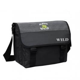 Černo-šedá taška na laptop NG43/161141-B6 odstíny barev: černá