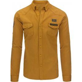 BASIC Karamelová džínová košile (dx1260) velikost: M, odstíny barev: hnědá
