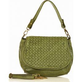 Zelená kožená kabelka MARCO MAZZINI  (v6d) Velikost: univerzální
