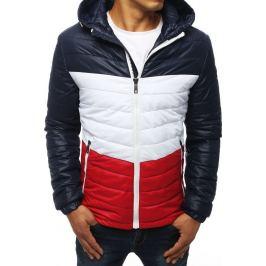 BASIC Barevná prošívaná pánská bunda - modrá  (tx2940) Velikost: L