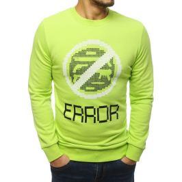 BASIC Zelená mikina s potiskem Error (bx4221) Velikost: S
